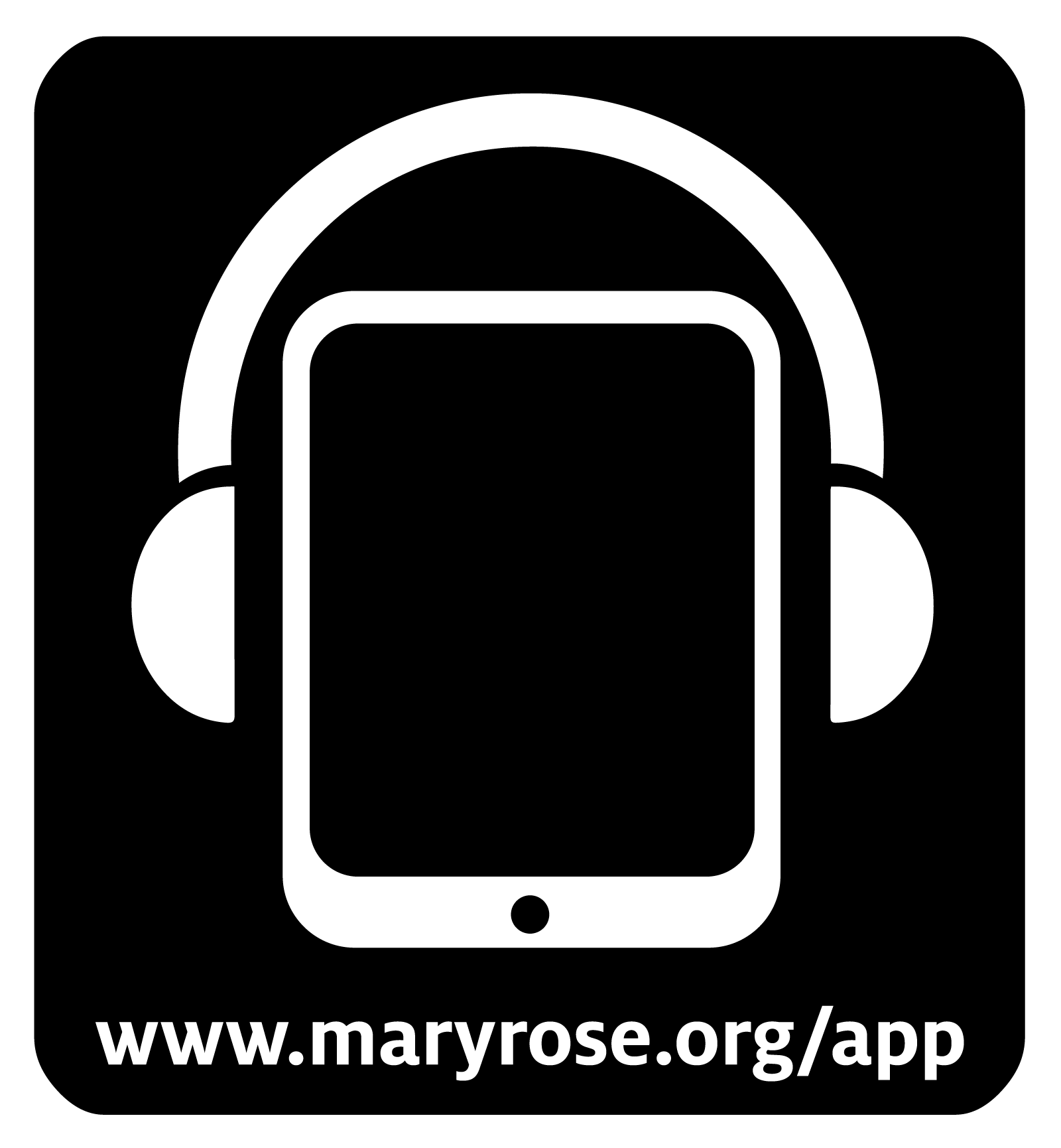 The Mary Rose App signage