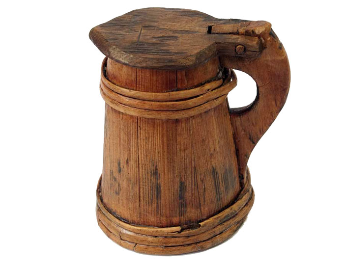 A tankard recovered from the Mary Rose