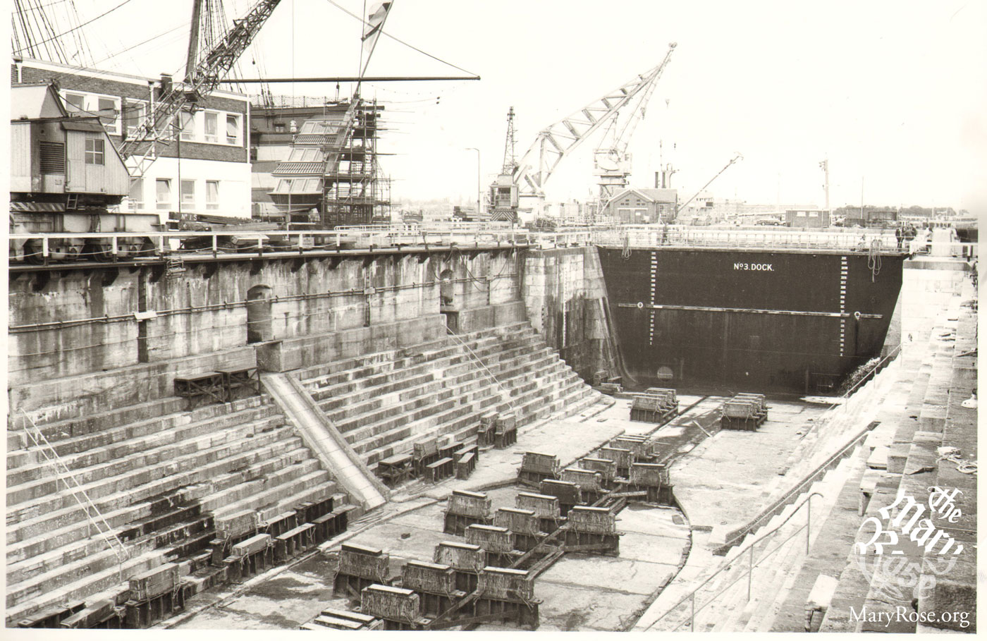 Dry Dock No. 3 before the Mary Rose was floated in.