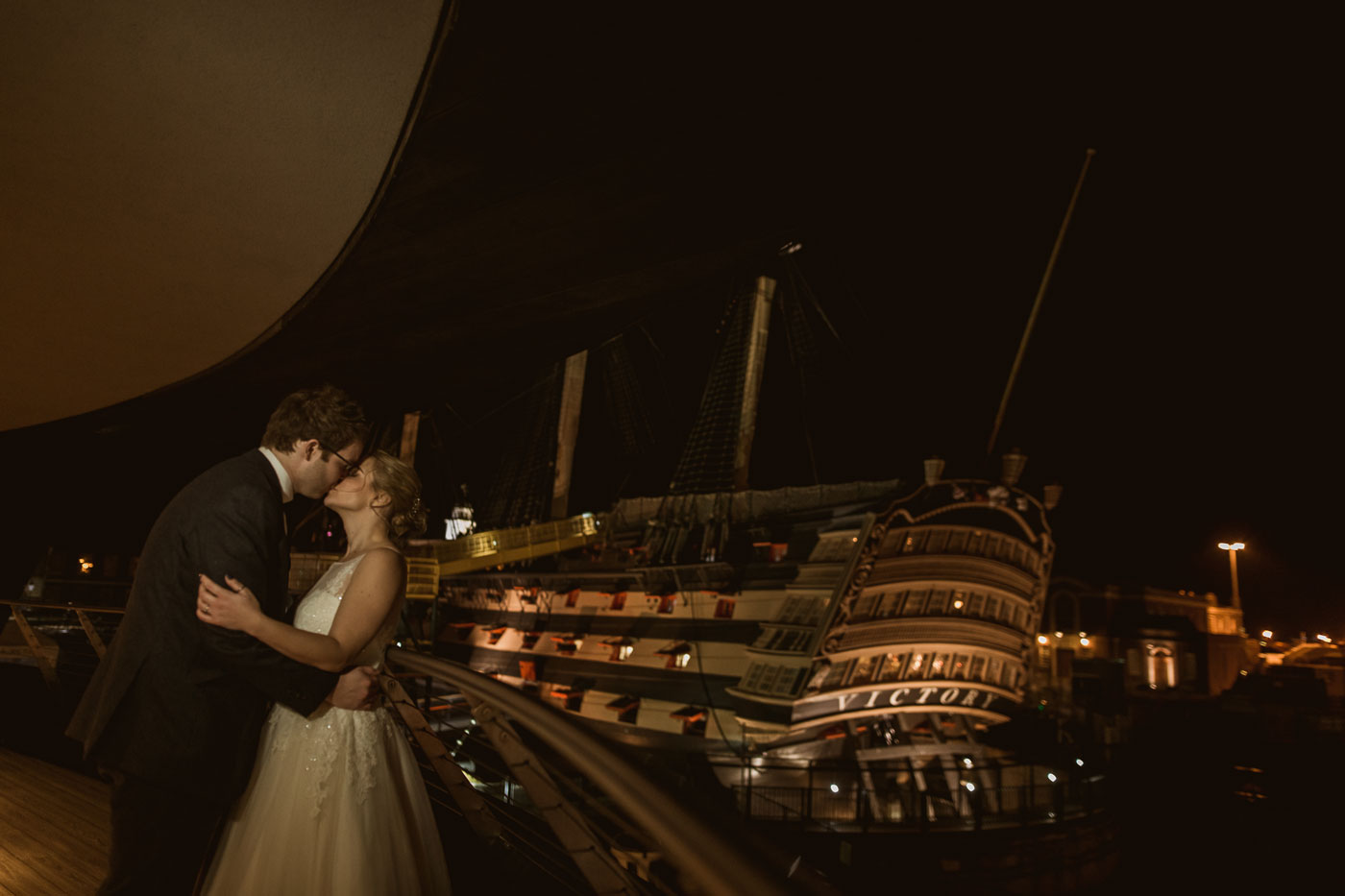 Emma and Tom wedding at The Mary Rose