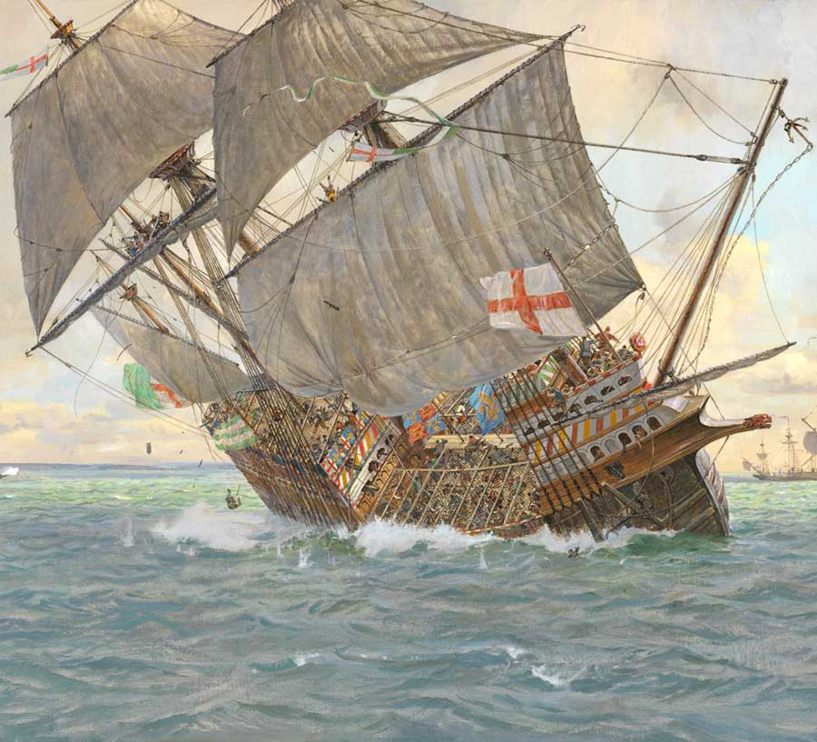 The Sinking of the Mary Rose by Geoff Hunt