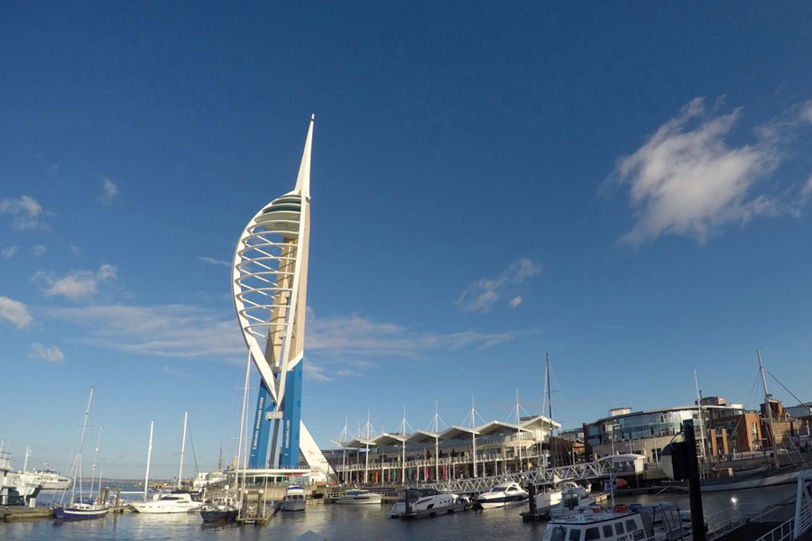 Gunwharf Quays and the Spinnaker Tower