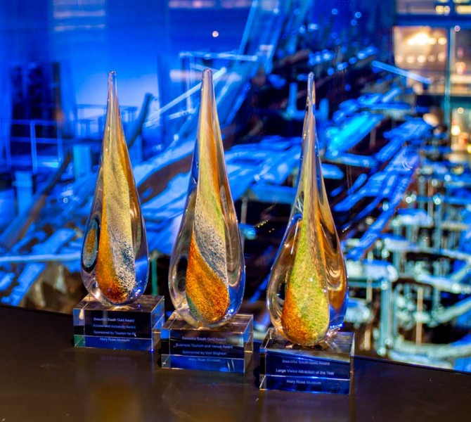 The Beautiful South Awards in front of the Mary Rose