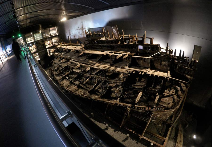 Looking down at the Mary Rose