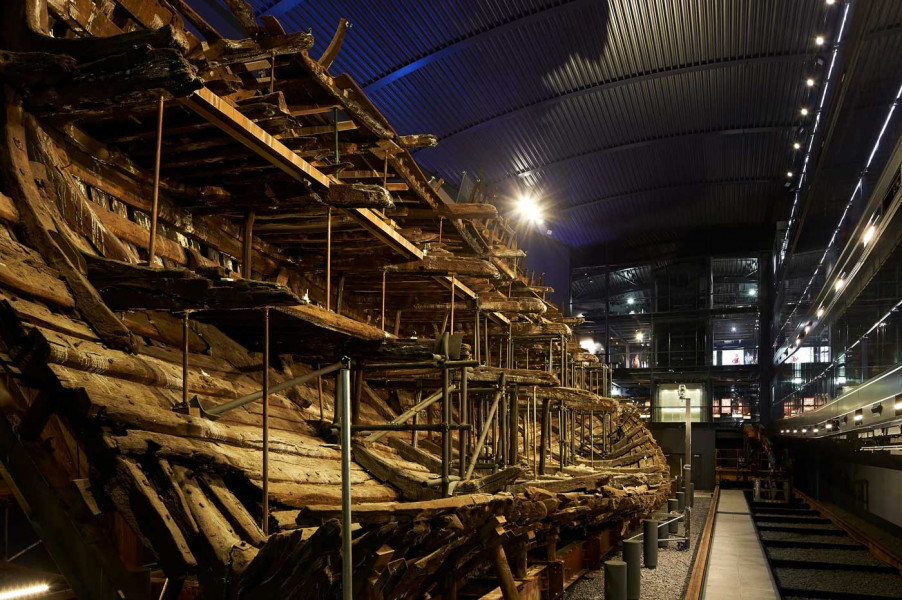The Mary Rose from below